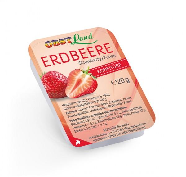 Obstland Konfitüre Erdbeer 100 x 20g |CaterPoint.de