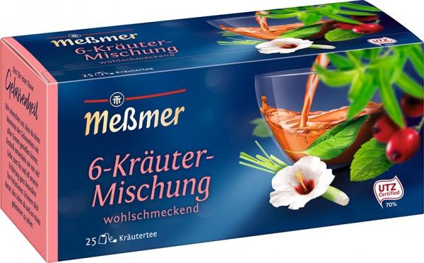 Meßmer Sechs-Kräuter-Tee 25 x 2,0g Tassenportion