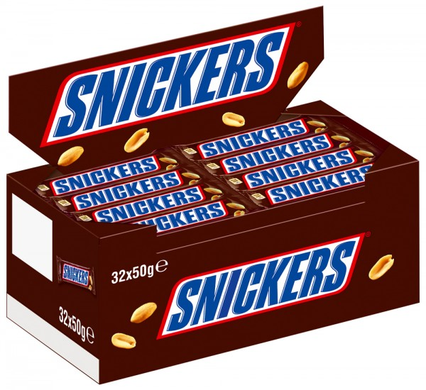 SNICKERS® 32 x 50g Thekendisplay