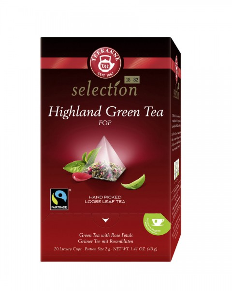 Teekanne Luxury Cup Highland Green Tea 20 x 2,0g