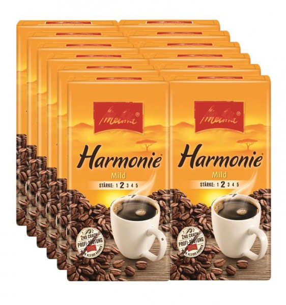 12 x Melitta Kaffee Milde Harmonie 500g | CaterPoint.de