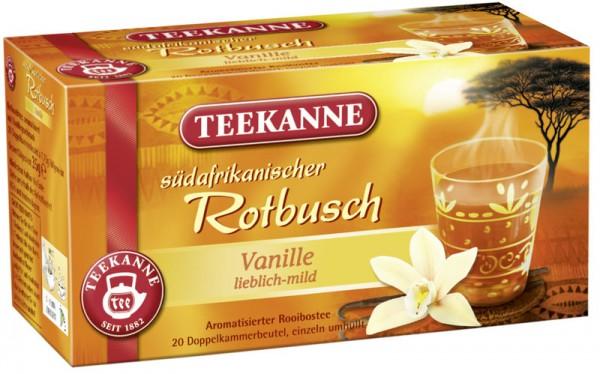 Teekanne Rotbuschtee Vanille 20 x 1,75g