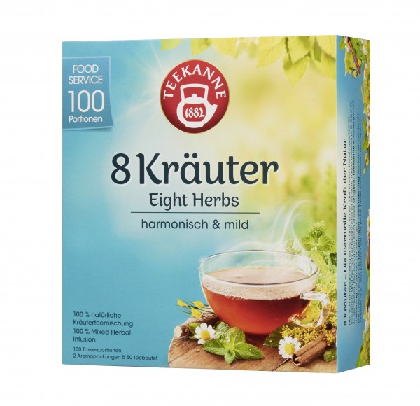 Teekanne 8 Kräuter 100 x 1,25g Tassenportionen | CaterPoint.de