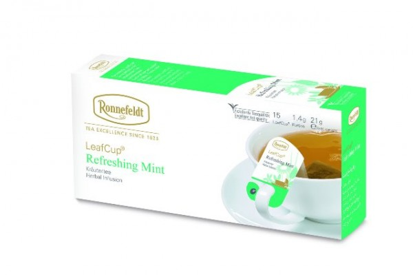 Ronnefeldt LeafCup® Refreshing Mint 15 x 1,4g   CaterPoint.de