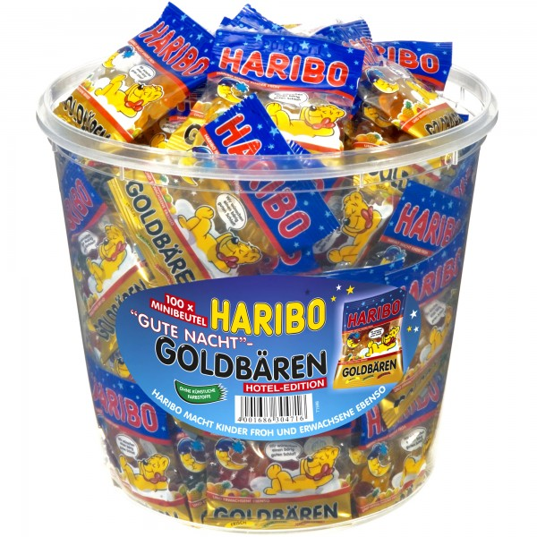 "Haribo Goldbären Minibeutel ""Gute Nacht"" 100 Stck   CaterPoint.de"