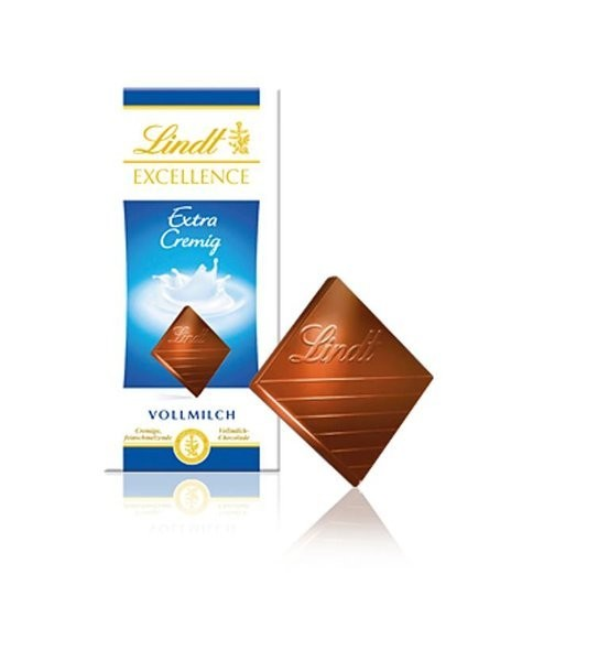 Lindt Schokolade Excellence Vollmilch Extra Cremig Tafel 100g