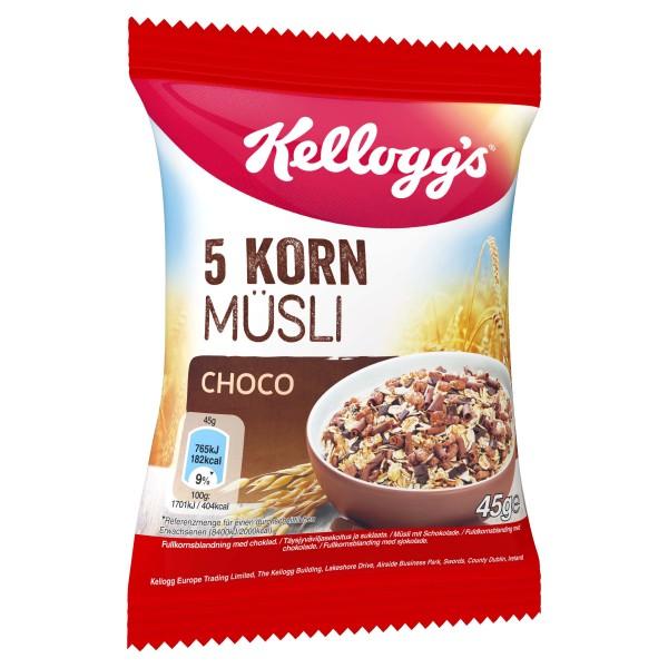 Kelloggs 5 Korn Müsli Choco 32 x 45g | CaterPoint.de