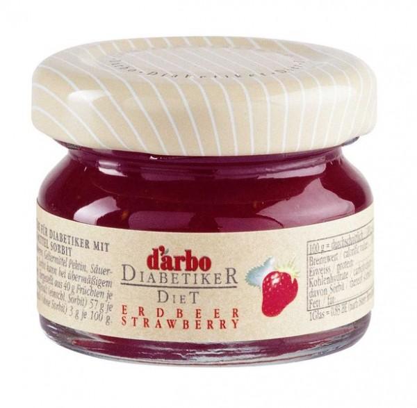 Darbo Konfitüre Erdbeer (Zuckerarm) 60 x 28g