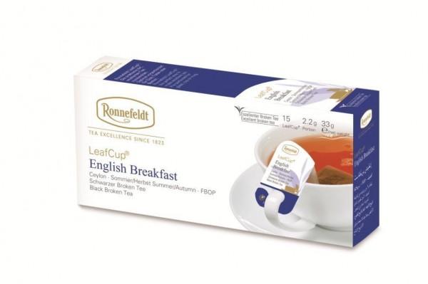 Ronnefeldt  LeafCup® English Breakfast 15 x 2,2g   CaterPoint.de