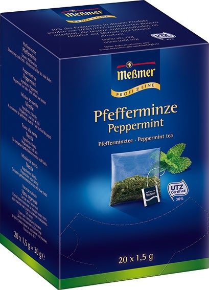 MEßMER ProfiLine Kissen Pfefferminze 20x1,5g | CaterPoint.de