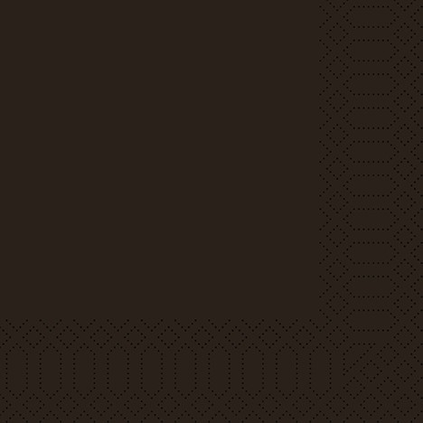 Duni Zelltuch-Servietten 3-lg 1/8-Falz 33 x 33 cm - schwarz - 250 Stück