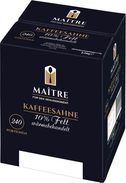 Maitre Kaffeesahne 10% 240 x 10g | CaterPoint.de