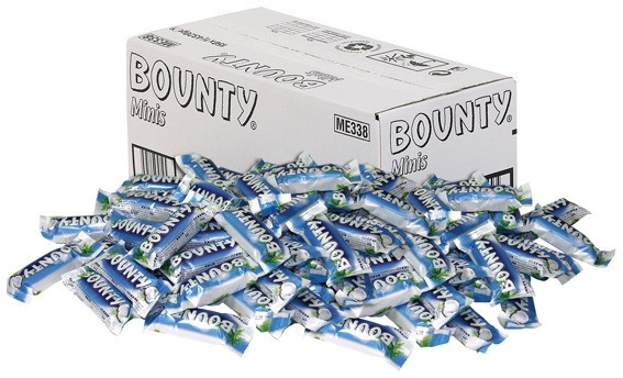 Bounty Miniriegel 150 x 28,5g im Karton
