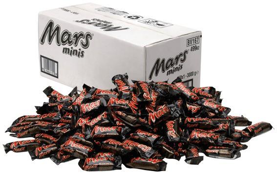 Mars Miniriegel 150 x 18g im Karton