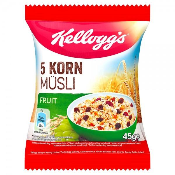 Kelloggs 5 Korn Müsli Frucht 32 x 45g | CaterPoint.de