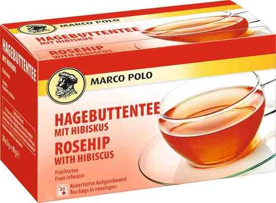 MARCO POLO Hibiskus mit Hagebutte 20 x 2g Tassenportion | CaterPoint.de