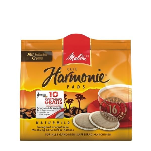 12 x Melitta Kaffeepads Harmonie 16 x 1 Stück