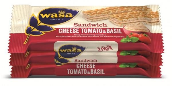 Wasa Sandwich Käse, Tomate, Basilikum