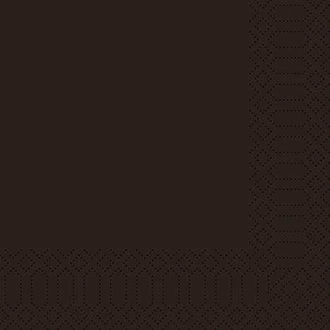 Duni Zelltuch-Servietten 3-lg 1/4-Falz 24 x 24 cm - schwarz - 250 Stück