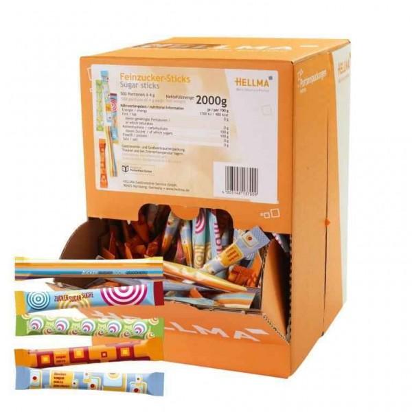 Feinzucker-Sticks 500 x 4g im Displaykarton| CaterPoint.de