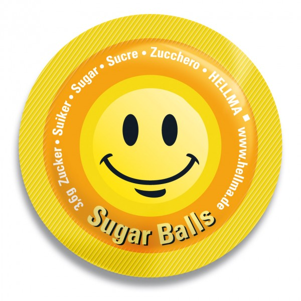 "Hellma Sugar Ball ""Happy"" 400 x 3,6g 