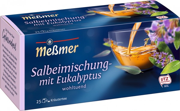 Meßmer Salbei-Mischung mit Eukalyptus 25 x 1,75g Tassenportion | CaterPoint.de