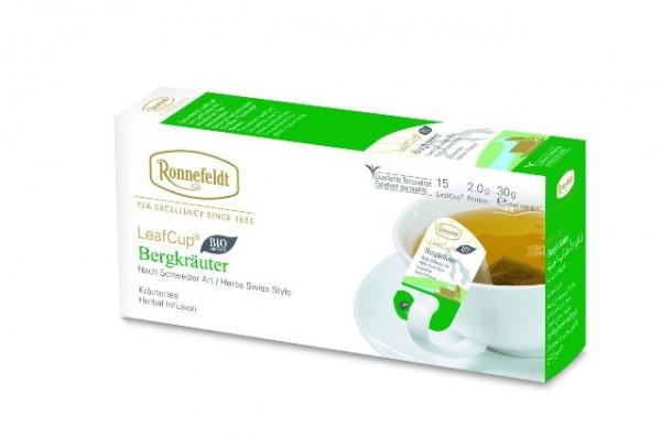 Ronnefeldt LeafCup® Bergkräuter 15 x 2,0g   CaterPoint.de