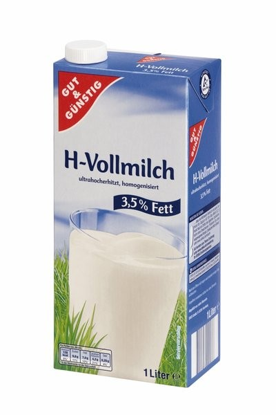H-Milch 3,5% 1,0 Liter | CaterPoint.de