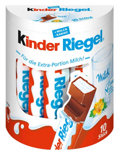Kinder Schokoladen-Riegel 10er
