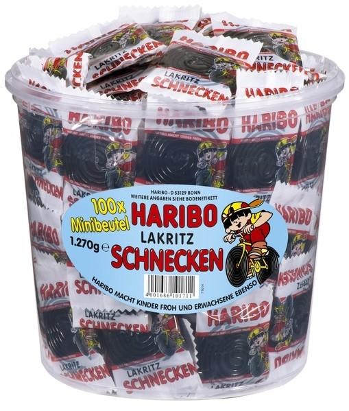 Haribo Rotella Minibeutel 100 Stück in Runddose