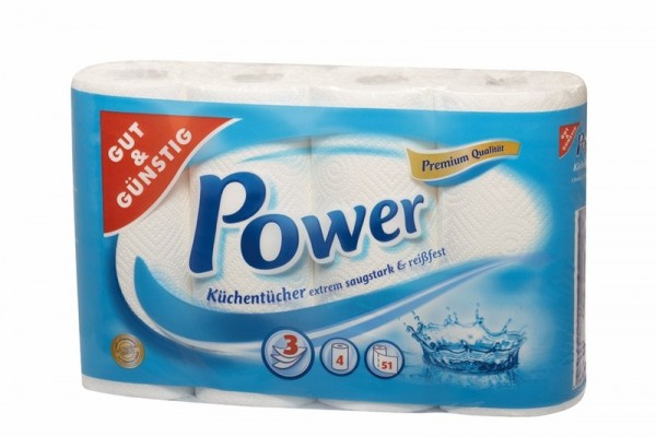 G&G Power Küchentücher 4er Pack