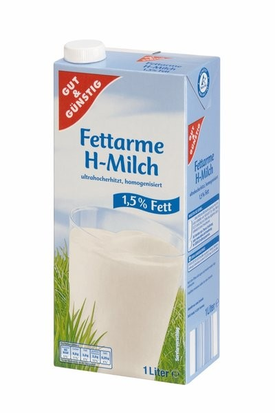 H-Milch 1,5% 1,0 Liter | CaterPoint.de