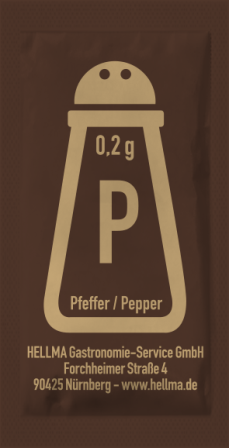 Hellma Pfeffer Sachets neutral 2.000 Portionen a 0,2g | CaterPoint.de