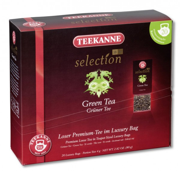 Teekanne Luxury Bag Green Tea 20 x 4,0g