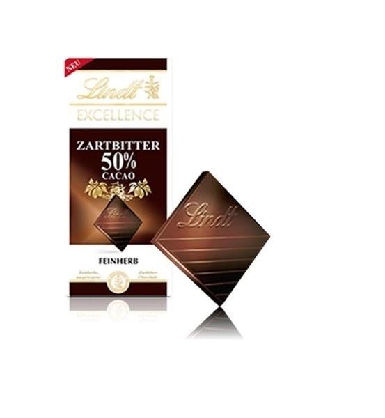 Lindt Schokolade Excellence Zartbitter 50% Tafel 100g