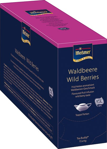 Meßmer Tea Buddy Waldbeere 15 x 4,0g | CaterPoint.de