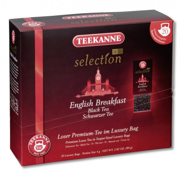 Teekanne Luxury Bag English Breakfast 20 x 4,0g