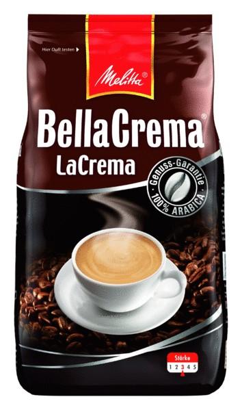 Melitta BellaCrema LaCrema 1000 g, Ganze Bohne