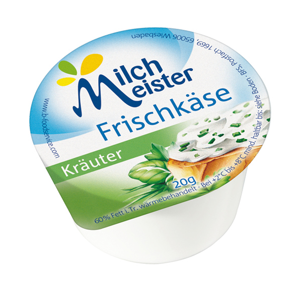 Milchmeister Frischkäsezubereitung Kräuter 60 x 20g | CaterPoint.de