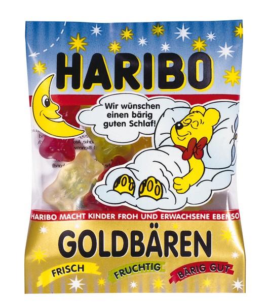 """Haribo Goldbären Minibeutel """"Gute Nacht"""" 100 Stck"""
