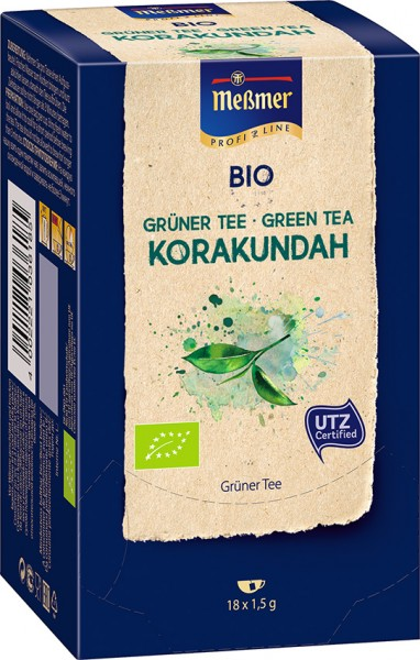 MEßMER ProfiLine Bio Grüntee Korakundah 18x1,50g | CaterPoint.de