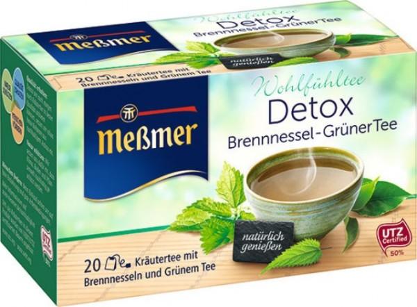 Messmer DETOX Brennessel - Grüner Tee 20 x 2,0g | CaterPoint.de