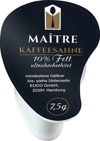 Maitre Kaffeesahne 10% 240 x 7,5g  Tassenschmieger | CaterPoint.de
