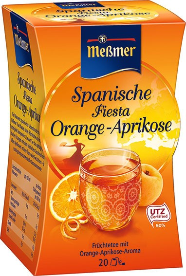 Spanische FIESTA Orange-Aprikose 20 x 2,5g Portion