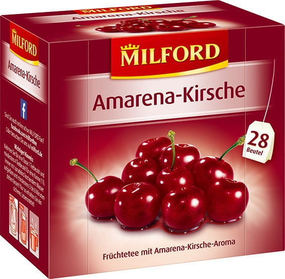 Milford Amarena-Kirsche 6x28x2,25g Tassenportion