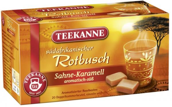 Teekanne Rotbuschtee Sahne-Karamell 20 x 1,75g