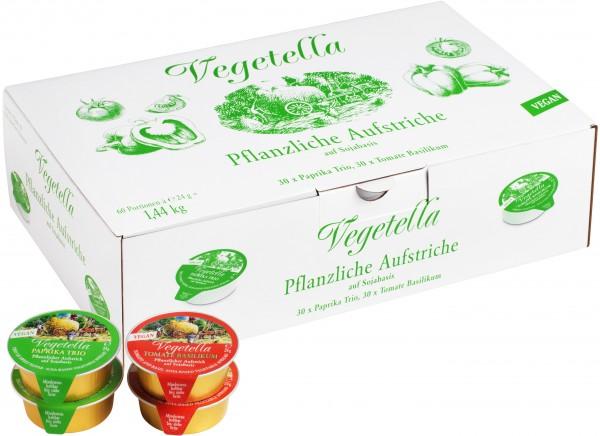 Vegetella Pflanzliche Aufstriche 60 x 24g sortiert |CaterPoint.de
