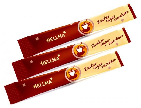 Hellma Zuckersticks 100 Stück a 4g Feinzucker | CaterPoint.de