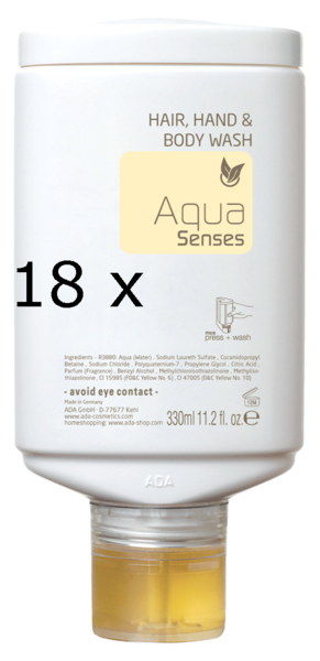 18 x Aqua Senses press + wash Multi Care 330ml | CaterPoint.de