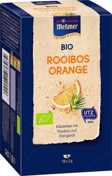MEßMER ProfiLine Bio Rooibos-Orange 18x2,00g  | CaterPoint.de